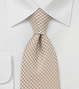 Patterned Tie in Golden Wheat