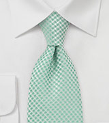 XL Length Designer Tie in Clover Green
