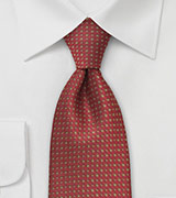 Burgundy Brown Dotted Tie