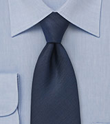 Textured Tie in Navy