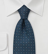 Traditional Tie in Caspian Blue
