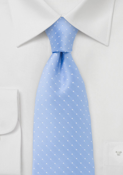 Coastal Blue Polka Dot Tie
