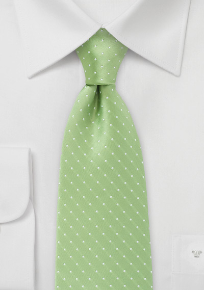 Kids Tie in Light Green