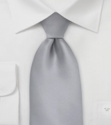 Solid Silver Kids Sized Tie