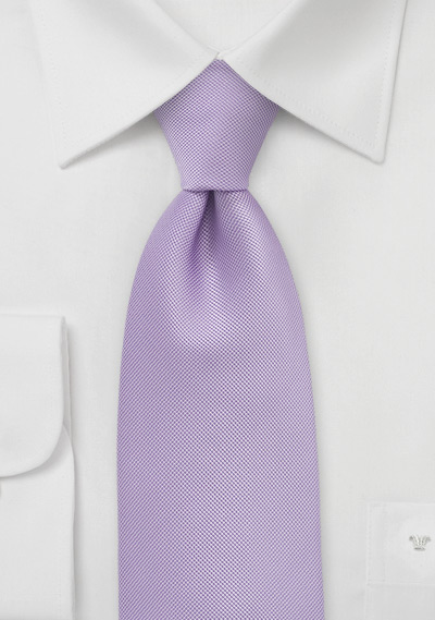 Kids Length Tie in Vintage Lilac