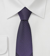 Ultra Slim Tie in Purple and Black
