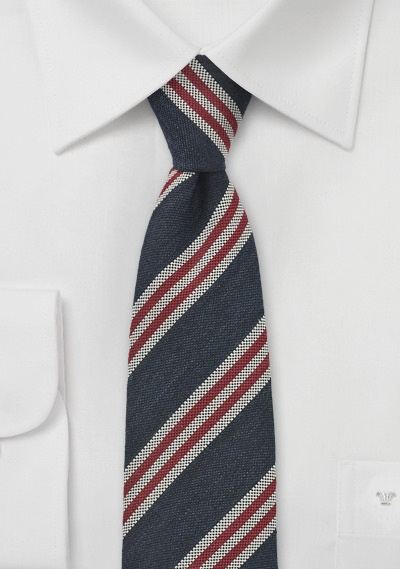 Retro Stripe Skinny Tie by BlackBird
