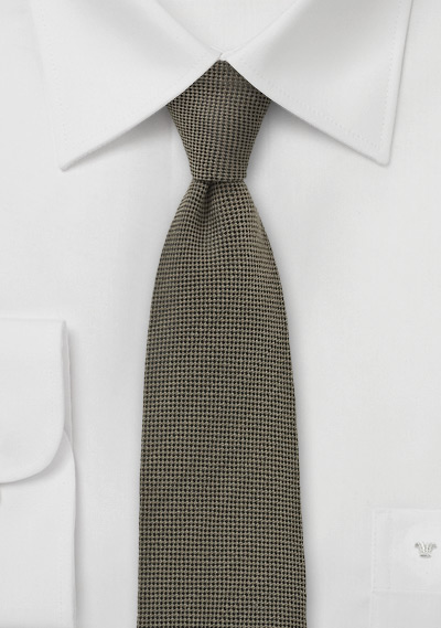 Camel Color Skinny Tie by BlackBird