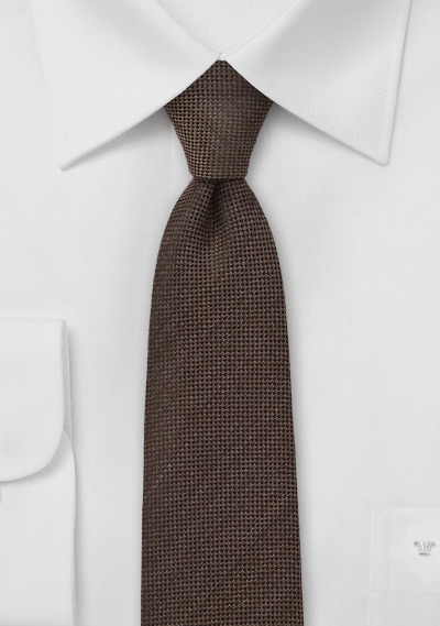 Espresso Brown Skinny Tie by BlackBird