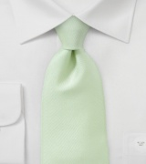 Ribbed Tie in Light Green in Boys Size