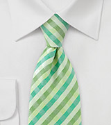 Fresh Green Check Necktie