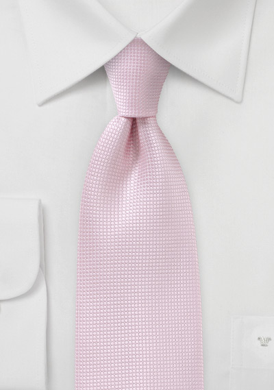 Textured Kids Tie in Tea Rose
