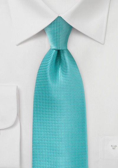 Textured Kids Tie in Lagoon Color