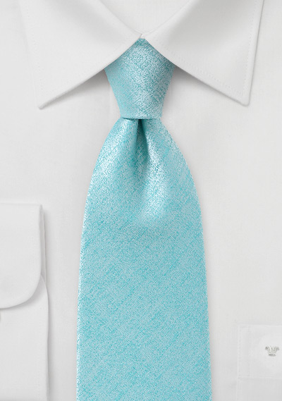 Handmade Light Aqua Textured Tie