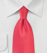 Extra Long Coral Color Necktie