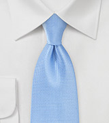 Textured Tie in French Blue