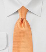 Extra Long Tie in Tangerine