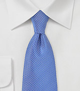 Cobalt Blue Textured Tie in Long Length