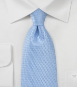Light Blue Kids Tie with Textured Weave