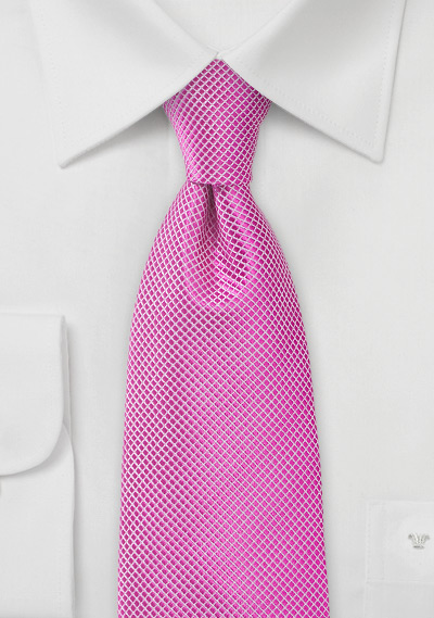 Orchid Pink Men\'s Tie in Extra Length