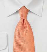 Mandarin Orange Necktie in Extra Length