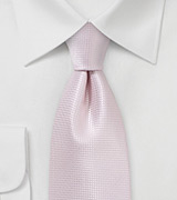 Extra Long Wedding Tie in Blush Pink