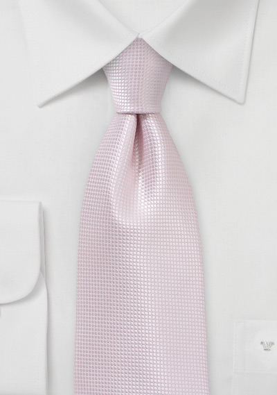 Elegant Wedding Tie in Blush Pink