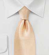 Elegant Extra Long Tie in Peach Fuzz Color