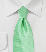 Bright Summer Mint Necktie in XL Length