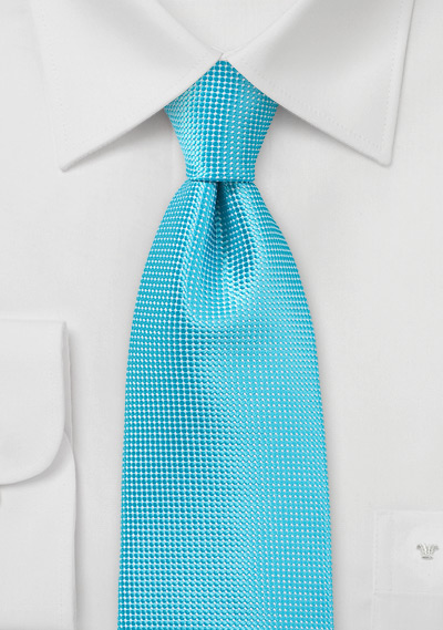 Bold Men\'s Tie in Bluebird Turquoise
