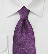 Wineberry Purple Tie with Herringbone Pattern
