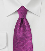 Boysenberry Purple Tie with Herringbone Weave