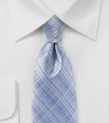 Textured Mens Tie in Kentucky Blue