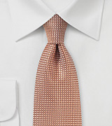 Apricot Color Tie with Texture