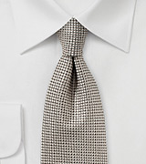 Mens Tie in Beiges and Taupe