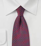 Red and Light Blue Woven Necktie