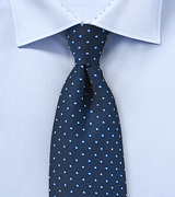 Navy Mens Tie with Light Blue Micro Dots