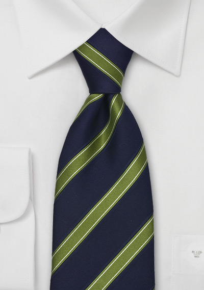 Italian Silk Tie by Tino Cosma in Navy and Green