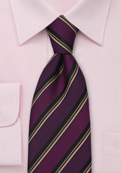 tino cosma silk tie in plum purple