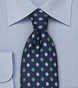 Blue and Green Designer Tie by Tino Cosma