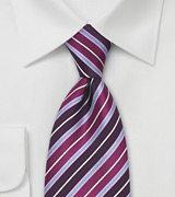 Purple Striped Tie by Tino Cosma