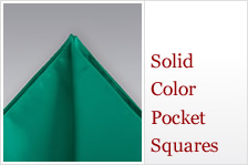 Solid color pocket-squares